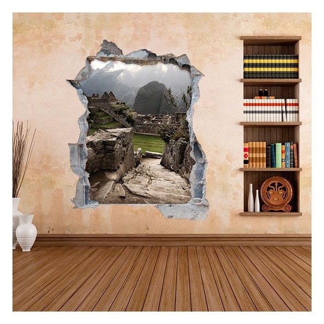 3D wall vinyls Machu Picchu