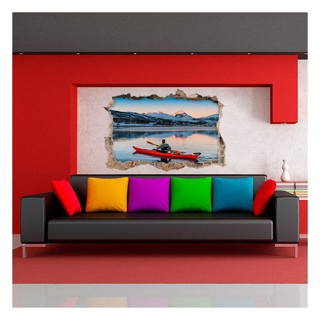 Vinyl 3D walls kayaking