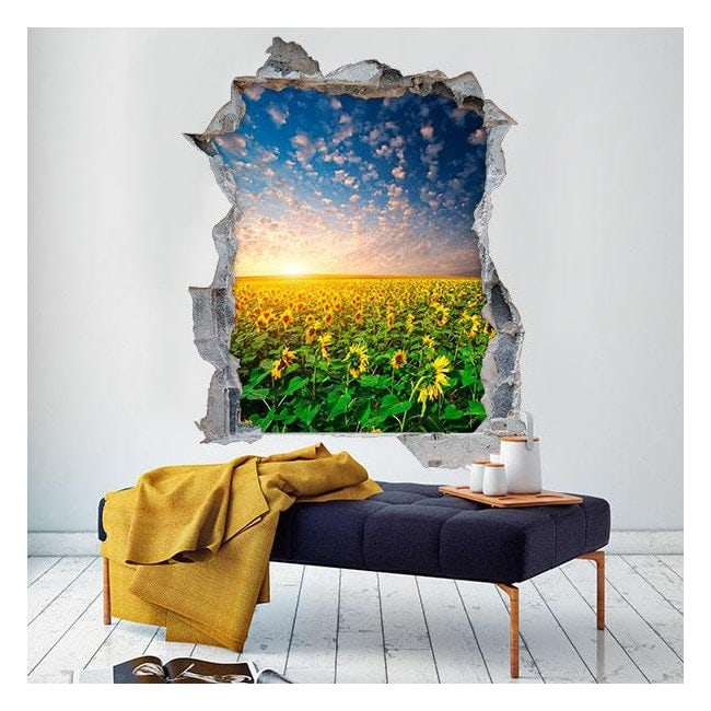 Vinyl 3D sunflowers