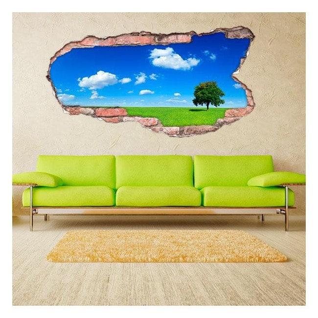 Vinyl 3D tree on the horizon