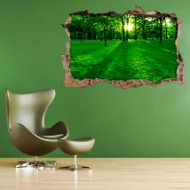 3D hollow vinyl wall Park