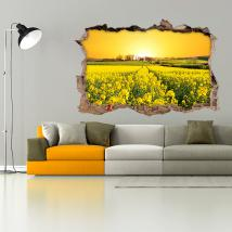 Vinyl 3D flowers meadow nature