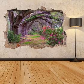 Vinyl 3D trees nature