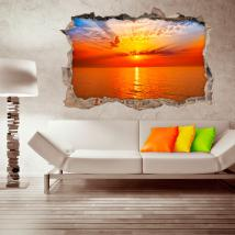 Vinyl sunset wall 3D English 4508