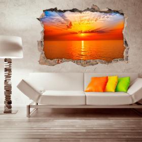 Vinyl sunset wall 3D