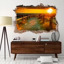 Vinyl sunset wall 3D English 4521
