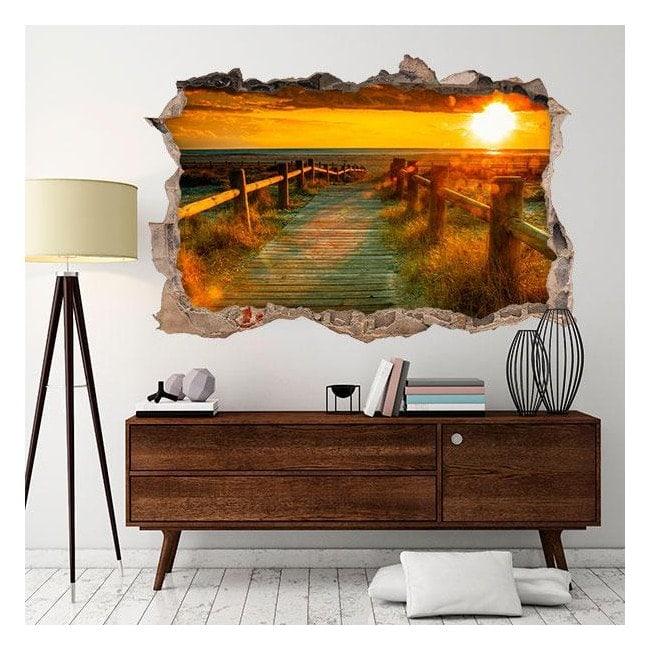 Vinyl sunset wall 3D English 4521