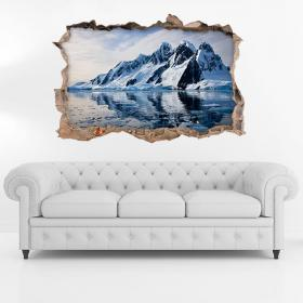 Vinyl 3D Icebergs and mountains