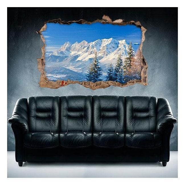 Vinyl 3D snowy mountains
