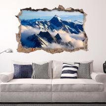 Vinyl 3D clouds in the mountains