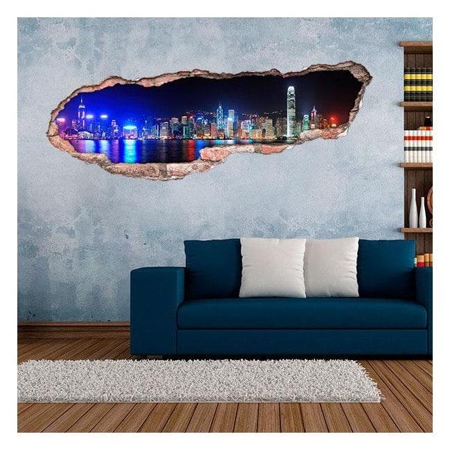 Vinyl 3D city of Hong Kong