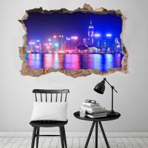 Vinyl 3D city Hong Kong