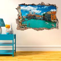 3D vinyl hole wall Venice