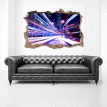 Vinyl 3D wall city lights