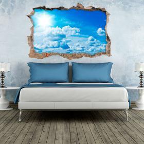 3D wall vinyl heaven