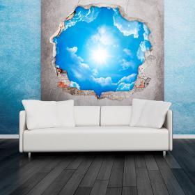 Vinyl sky 3D clouds and Sun