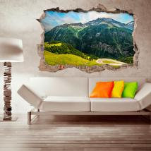 3D mountain walls vinyls