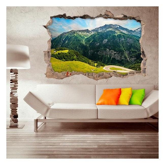 3D mountain walls vinyls