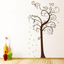 Vinyl decorative multi-colored tree