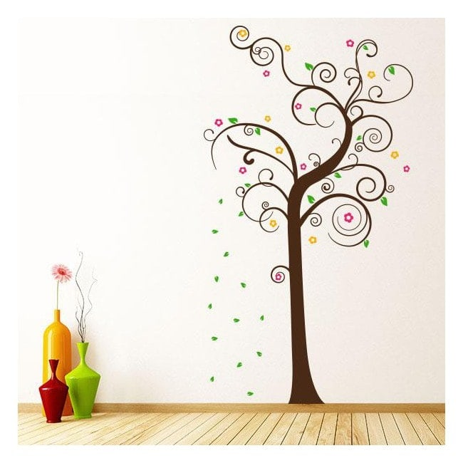 Vinyl decorative multi-colored tree