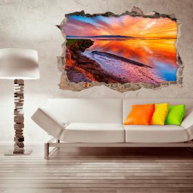 Vinyl 3D Laguna sunset