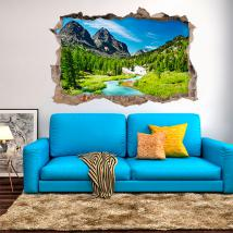 Vinyl 3D River in the mountains English 4583