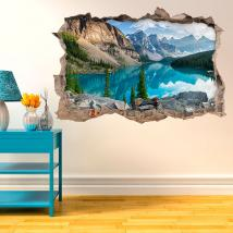 Vinyl 3D Lake in the mountains English 4584