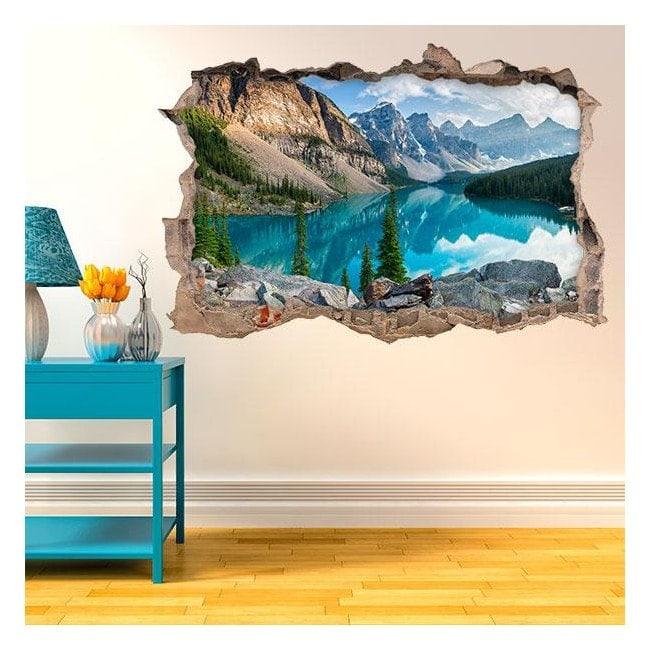 Vinyl 3D Lake in the mountains English 4584