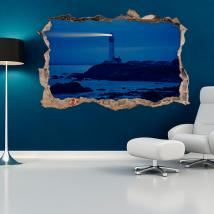 3D wall vinyls Lighthouse Beach