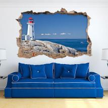 Vinyl 3D day lighthouse