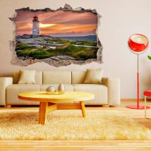 Vinyl walls 3D sea lighthouse