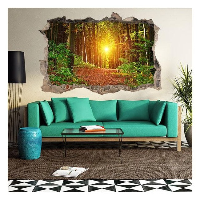 Vinyl sunset forest 3D