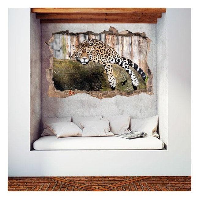 3D wall vinyls Jaguar
