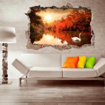 3D wall vinyl Swan