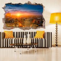 Vinyl 3D Madrid sunset