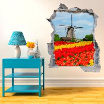 3D mill and tulips vinyl