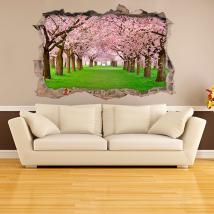 Vinyl 3D trees cherry blossom