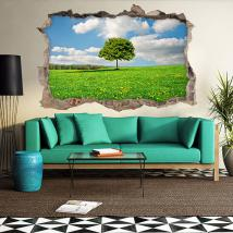 Vinyl 3D tree in the field English 4621