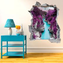 Vinyl 3D River in the mountains English 4625