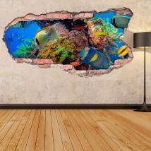 Vinyl 3D fish in the sea