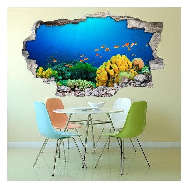 Vinyl wall marine life 3D