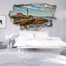 Vinyl 3D sea lighthouse