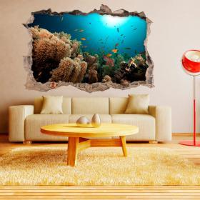 3D fish of the sea walls vinyls