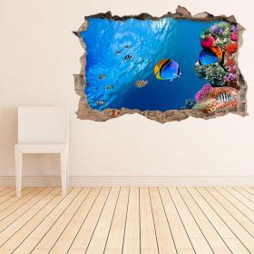 Vinyl walls marine life 3D