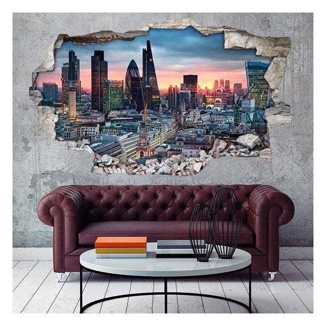 Vinyl 3D city of London English 4661