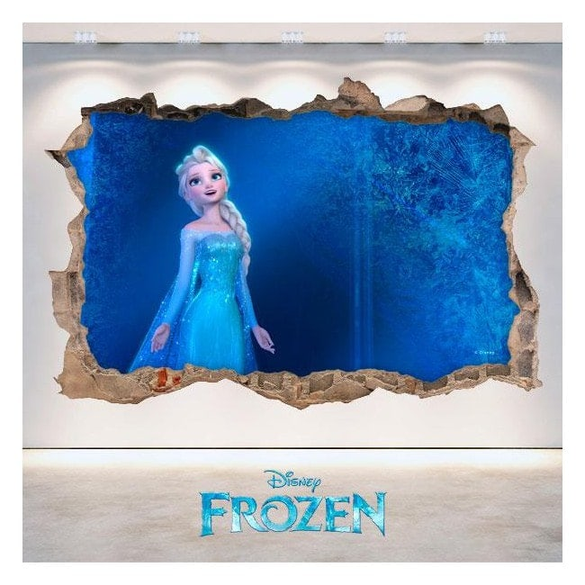 Vinyl 3D Disney Frozen hole wall English 4685