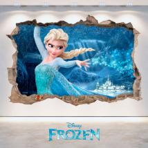 3D vinyl hole wall Disney Frozen