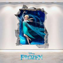 Vinyl 3D Disney Frozen hole wall English 4696