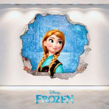 Vinyl Disney Anna Frozen hole 3D wall