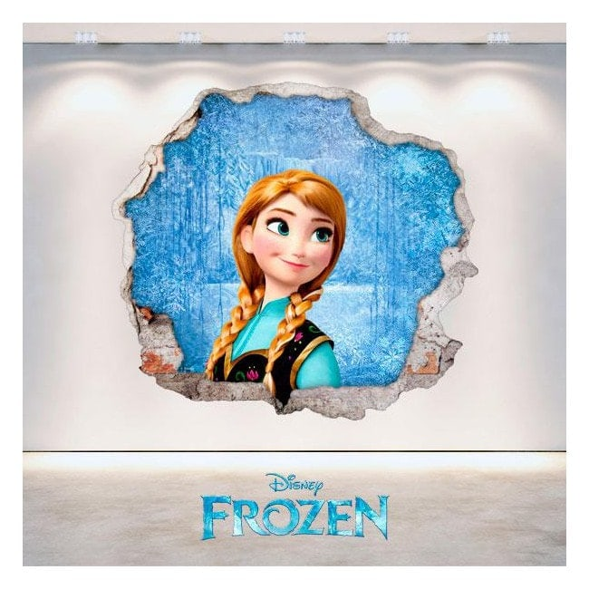 Vinyl Disney Anna Frozen hole 3D wall
